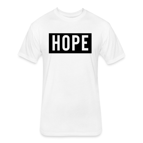 HOPE - Fitted Cotton/Poly T-Shirt by Next Level