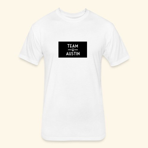 Team Austin Youtube Fan Base - Fitted Cotton/Poly T-Shirt by Next Level
