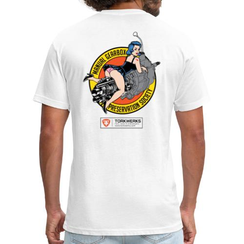 Manual Gearbox Preservation Society - Fitted Cotton/Poly T-Shirt by Next Level