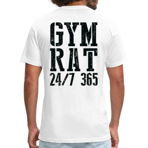 Gym Rat - Fitted Cotton/Poly T-Shirt by Next Level