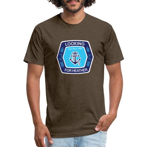 Looking For Heather Stock Logo - Fitted Cotton/Poly T-Shirt by Next Level