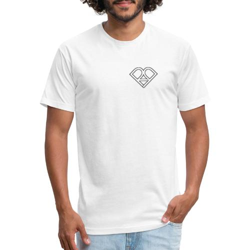 Riggi & Piros Heart - Fitted Cotton/Poly T-Shirt by Next Level