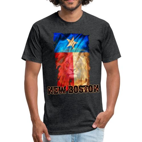 New Boston Texas Flag 2 - Fitted Cotton/Poly T-Shirt by Next Level