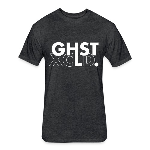 GHST XCLD - BLACK - Fitted Cotton/Poly T-Shirt by Next Level