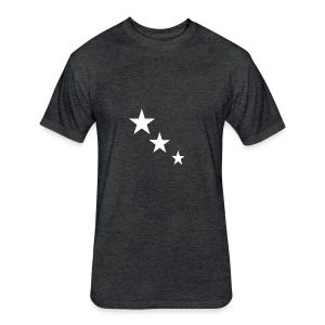 3 STARS - Fitted Cotton/Poly T-Shirt by Next Level