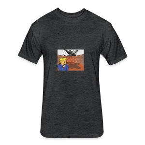 Donalds Wall - Fitted Cotton/Poly T-Shirt by Next Level