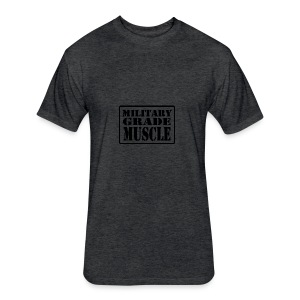 Military Grade Muscle Black - Fitted Cotton/Poly T-Shirt by Next Level