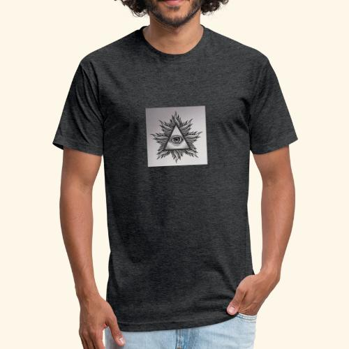 The all-seeing eye - Fitted Cotton/Poly T-Shirt by Next Level