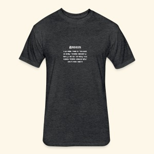 MS Broken Grey Text - Fitted Cotton/Poly T-Shirt by Next Level