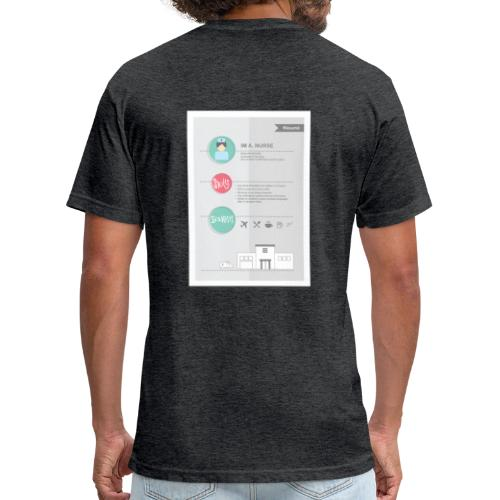 Nurse Resume Male - Fitted Cotton/Poly T-Shirt by Next Level