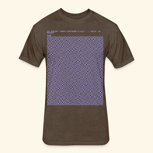 10 PRINT CHR$(205.5 RND(1)); : GOTO 10 - Fitted Cotton/Poly T-Shirt by Next Level