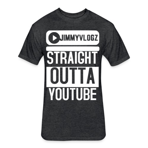 Straight Outta YouTube Merch! - Fitted Cotton/Poly T-Shirt by Next Level