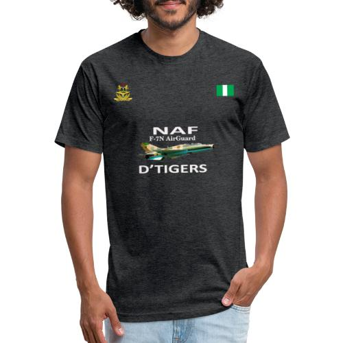 Nigerian Air Force F-7Ni AirGuard D'Tigers - Fitted Cotton/Poly T-Shirt by Next Level