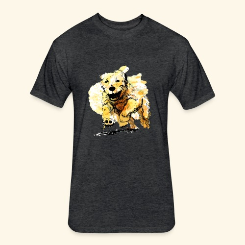oil dog - Fitted Cotton/Poly T-Shirt by Next Level