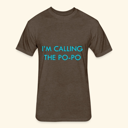 I'M CALLING THE PO-PO | ABBEY HOBBO INSPIRED - Fitted Cotton/Poly T-Shirt by Next Level
