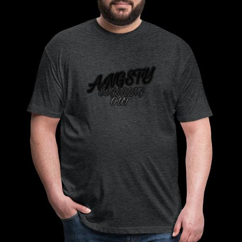 Angsty Signing Out Collection - Fitted Cotton/Poly T-Shirt by Next Level
