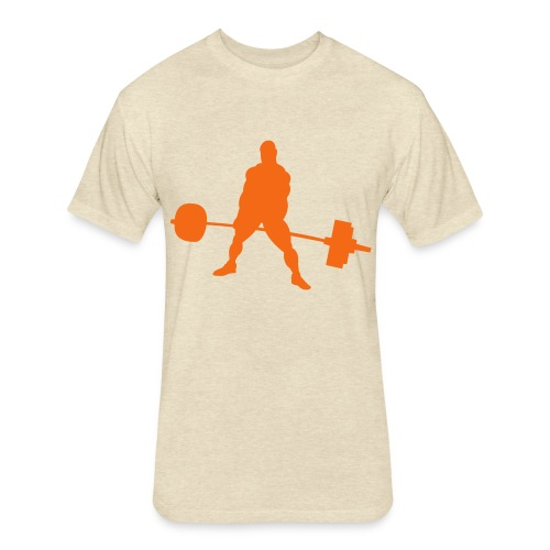 Powerlifting - Fitted Cotton/Poly T-Shirt by Next Level