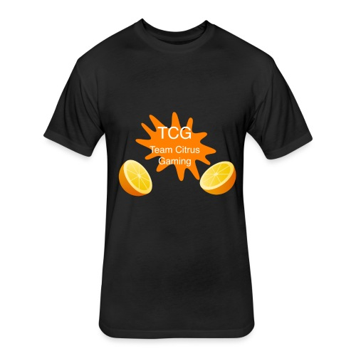 splash print design - Fitted Cotton/Poly T-Shirt by Next Level