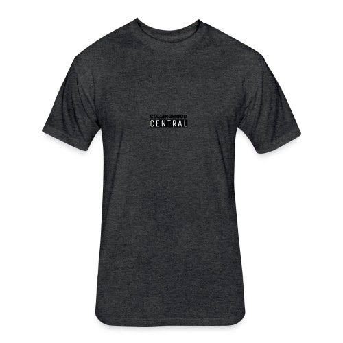 BLK Collingwood Central Logo - Fitted Cotton/Poly T-Shirt by Next Level