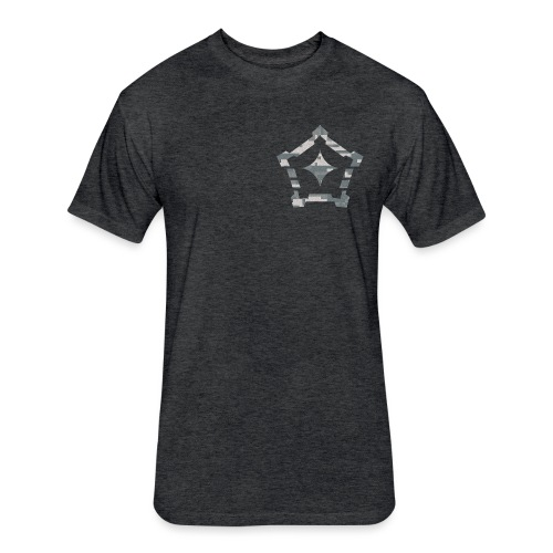 digital camo png - Fitted Cotton/Poly T-Shirt by Next Level