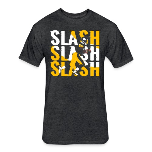 Slash - Fitted Cotton/Poly T-Shirt by Next Level
