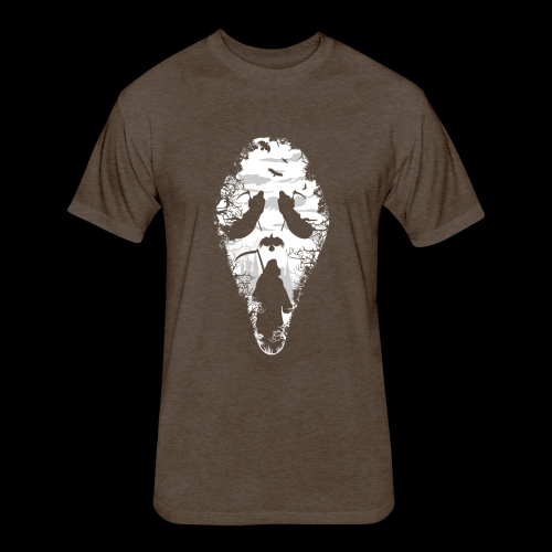 Reaper Screams | Scary Halloween - Fitted Cotton/Poly T-Shirt by Next Level