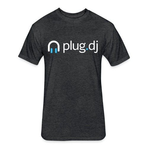 plugdj logo white png - Fitted Cotton/Poly T-Shirt by Next Level
