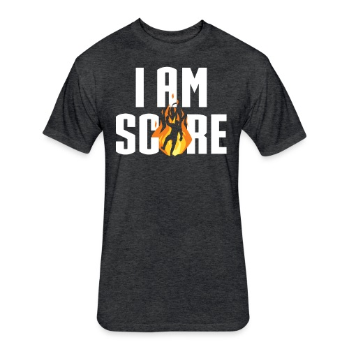 I am Fire. I am Score. - Fitted Cotton/Poly T-Shirt by Next Level