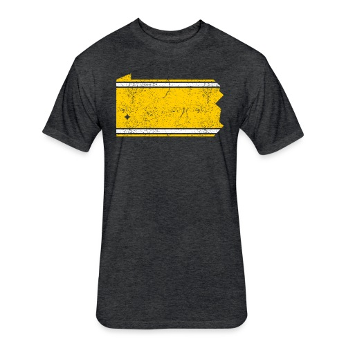 PA Stripes - Fitted Cotton/Poly T-Shirt by Next Level