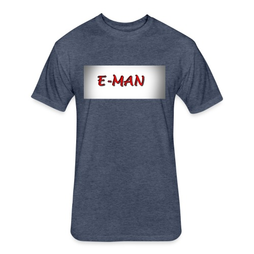 E-MAN - Fitted Cotton/Poly T-Shirt by Next Level
