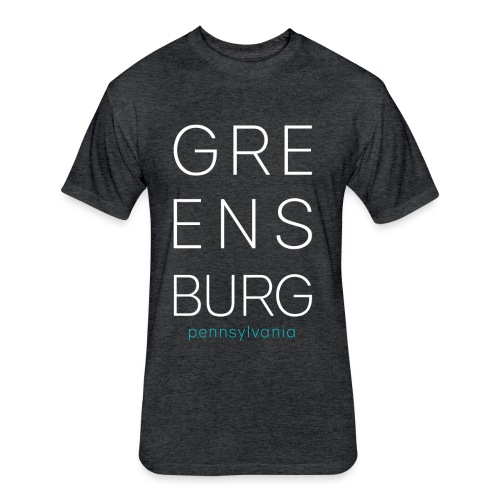 Greensburg Dark Gray Tee - Fitted Cotton/Poly T-Shirt by Next Level