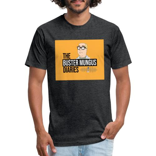Buster Mungus Orange Logo Swag - Fitted Cotton/Poly T-Shirt by Next Level