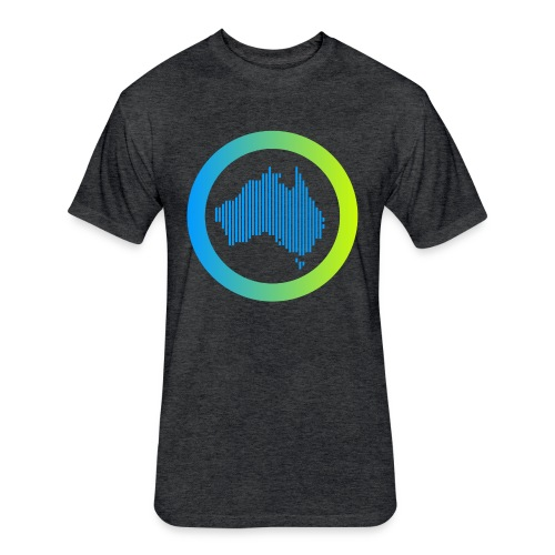 Gradient Symbol Only - Fitted Cotton/Poly T-Shirt by Next Level
