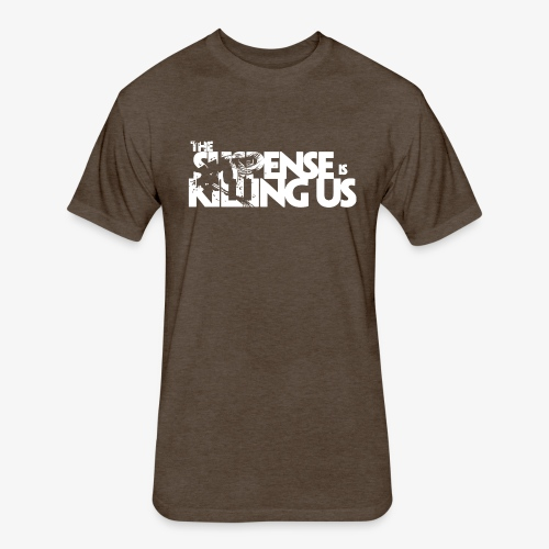 Suspense Is Killing Us White Logo - Fitted Cotton/Poly T-Shirt by Next Level