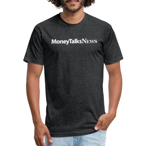 Money Talks News Logo - White - Fitted Cotton/Poly T-Shirt by Next Level