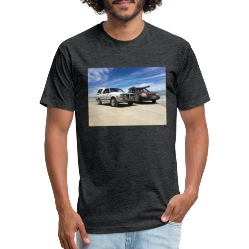 Subaru off roading - Fitted Cotton/Poly T-Shirt by Next Level