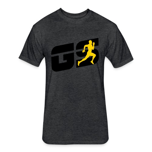 sleeve gs - Fitted Cotton/Poly T-Shirt by Next Level
