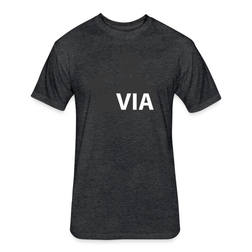 VIA Logo Black - Fitted Cotton/Poly T-Shirt by Next Level
