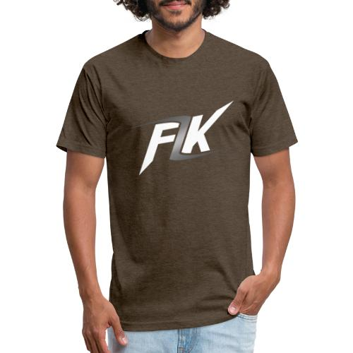 Flash (White) - Fitted Cotton/Poly T-Shirt by Next Level