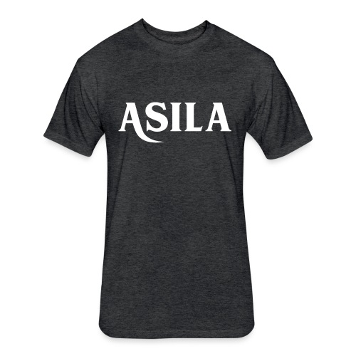 Asila Logo A4 RGB White - Fitted Cotton/Poly T-Shirt by Next Level