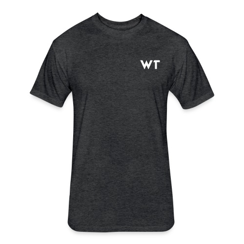WT Letter Logo - Fitted Cotton/Poly T-Shirt by Next Level