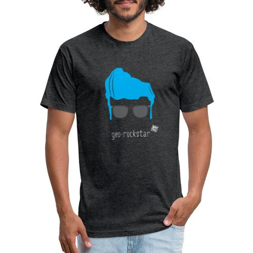 Geo Rockstar (him) - Fitted Cotton/Poly T-Shirt by Next Level