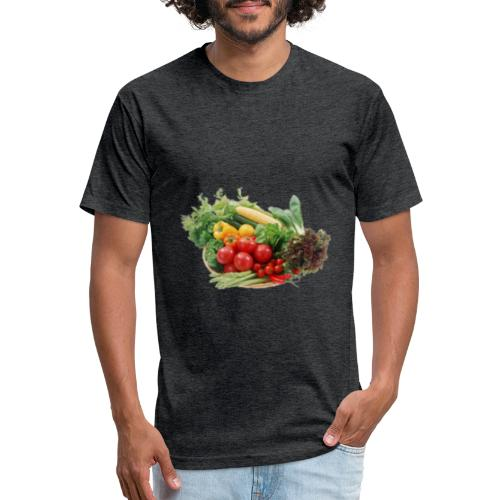 vegetable fruits - Fitted Cotton/Poly T-Shirt by Next Level