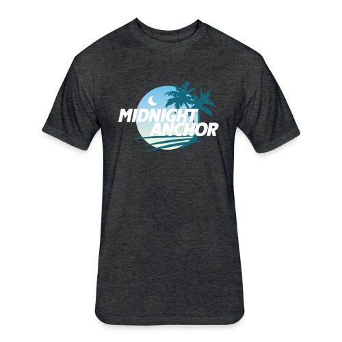 Midnight Anchor - Fitted Cotton/Poly T-Shirt by Next Level