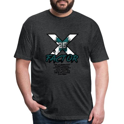 THE X FACTOR - Fitted Cotton/Poly T-Shirt by Next Level