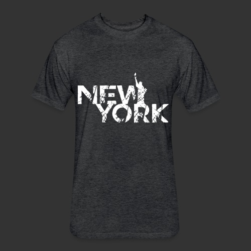 New York (Flexi Print) - Fitted Cotton/Poly T-Shirt by Next Level