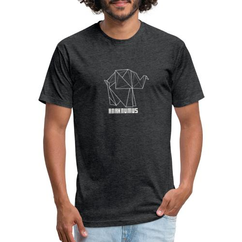 Anahnumus Logo - whitenobg - Fitted Cotton/Poly T-Shirt by Next Level