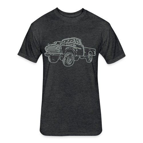 gnarlyTruck - Fitted Cotton/Poly T-Shirt by Next Level