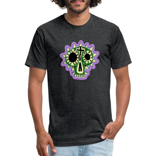 Hopey Día de Muertos - Fitted Cotton/Poly T-Shirt by Next Level