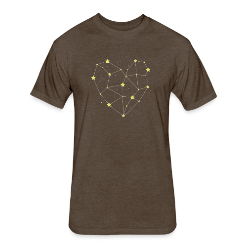 Heart in the Stars - Fitted Cotton/Poly T-Shirt by Next Level